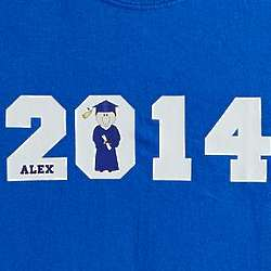 Personalized Graduation Character T-Shirt