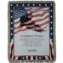 Embroidered Soldier's Prayer Throw