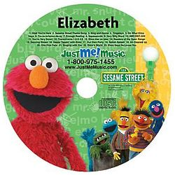 Personalized Just Me and Elmo CD