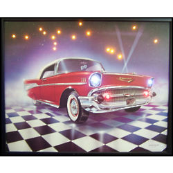 '57 Chevy LED Poster