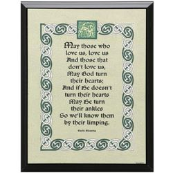 Know Them By Their Limping Irish Blessing Plaque