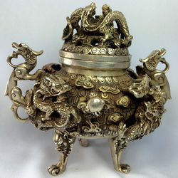 Your Majesty Antique Chinese Bronze Incense Burner