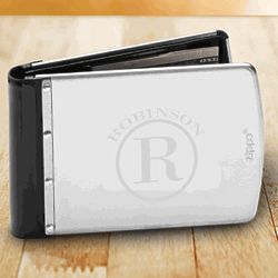 Personalized Brushed Stainless Steel Zippo Wallet