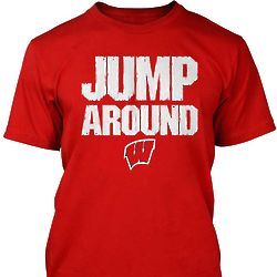 Wisconsin Jump Around Mens Tee