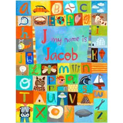 Boy's My Name Is Personalized Wall Art