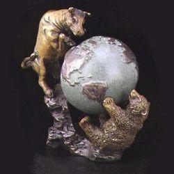 Bull & Bear Bronze Sculpture