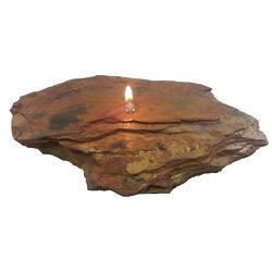 Single Wick Large Fire Rock Oil Candle