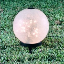Luna Medium Lantern on Petite Stand with Sparkle Globe