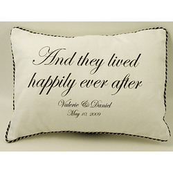 Personalized 'Happily Ever After' Pillow
