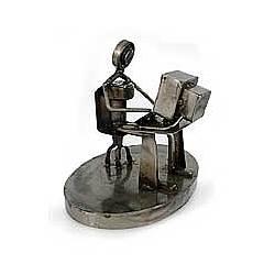 Rustic Web Programmer Auto Parts Sculpture