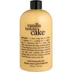 Vanilla Birthday Cake 3in1 Shampoo, Body Wash & Bubble Bath