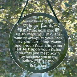 Personalized Irish Blessing Suncatcher