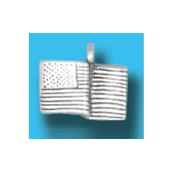 Silver U.S. Flag Charm