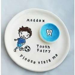 Personalized Soccer Boy Tooth Fairy Plate