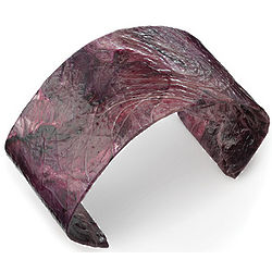 Handmade Purple Cabbage Cuff Bracelet