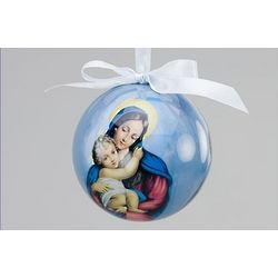 Madonna and Child Decoupage Ornament