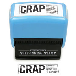 Crap Self-Inking Stamp