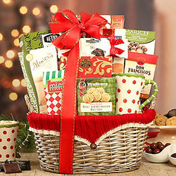 Red Sweater Favorites Gift Basket