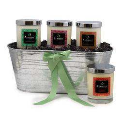 Tis the Season Premium Organic Candle Holiday Gift Basket