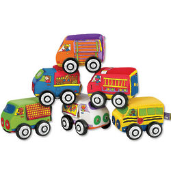 Textured Soft Cloth Toy Cars