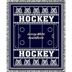Classic Ice Hockey Afghan