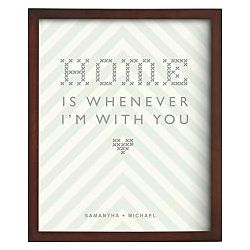 Personalized Home Is Framed Art Print