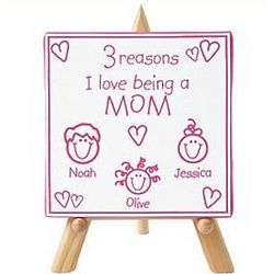 Personalized Reasons I Love Canvas with Easel
