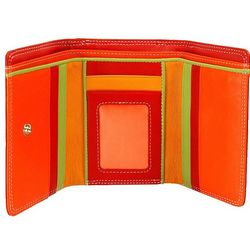 Red Multi-Color Tri-Fold Wallet