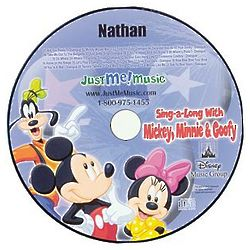 Personalized Just Me Mickey, Minnie and Goofy Sing-a-Long CD