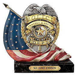 Shield Of Honor Personalized Sculpture