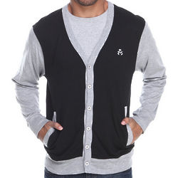 Men's Black & Grey Thad Jersey Cardigan