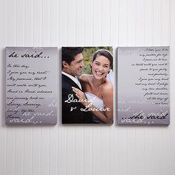 Wedding Vow Photo Split-Panel Canvas
