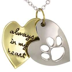 Always in my Heart Paw Pendant
