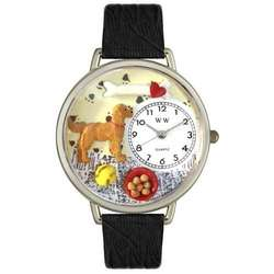 Large Golden Retriever Watch in Silver