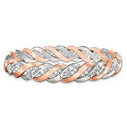 Women's Healing Waves Copper and Swarovski Crystal Bracelet