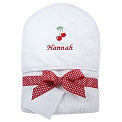 Baby and Toddler's Personalized Cherries Hooded Towel