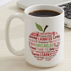 Personalized Apple for Teacher Coffee Mug