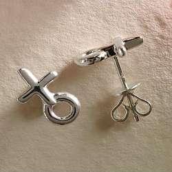 Sterling Silver XO Earrings