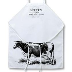 Personalized Cow Apron