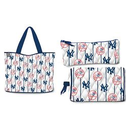 New York Yankees Tote Bag with Cosmetic Accessory Cases