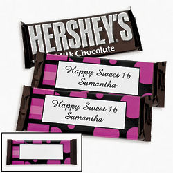 Personalized Simply Sassy Candy Bar Wrappers