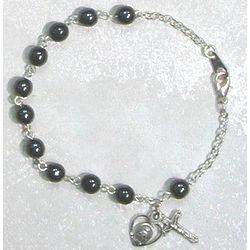 Hemetite ans Sterling Silver Rosary Bracelet