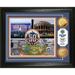 New York Mets 50th Anniversary Gold Coin Wall Art