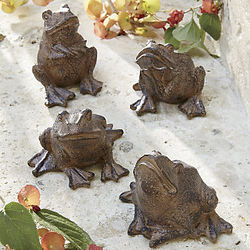 Whimsical Garden Frogs