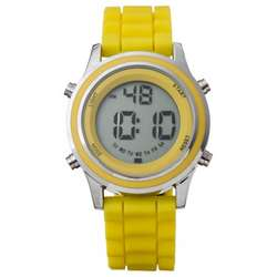 Yellow Rubber Bumpy Digital Watch