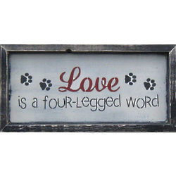 Four Legged Word Framed Sign