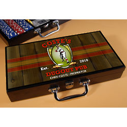 Personalized Dugout Design Poker Set
