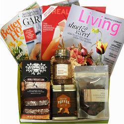 Women's Indulgence Magazines and Treats Gift Box