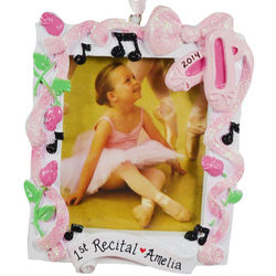 Personalized First Ballet Recital Photo Frame Ornament