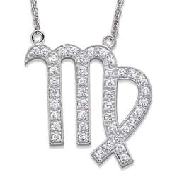 Sterling Silver Cubic Zirconia Gemini Necklace